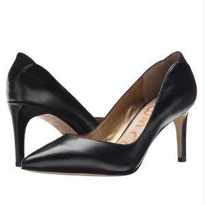 Sam Edelman Orella Black Leather Heels Pumps